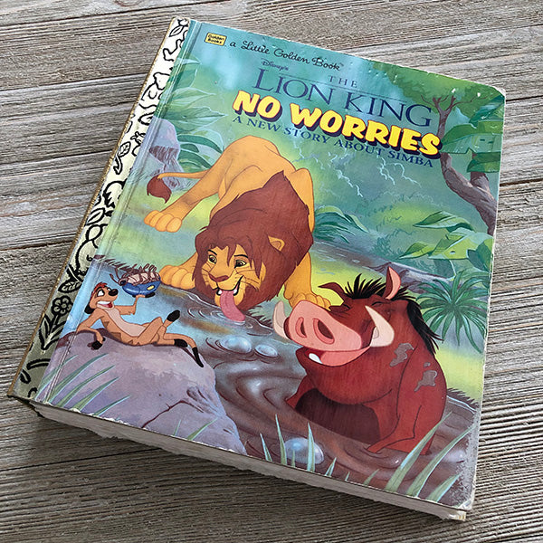 Lion King No Worries-Golden Book Journal READY TO SHIP