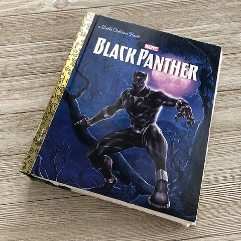 Black Panther w/ Moon and Trees Marvel Golden Book Journal READY TO SHIP