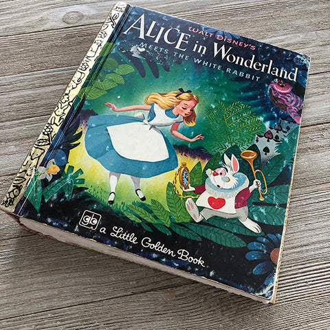 Alice in Wonderland [Journal 18] Vintage-Golden Book Journal READY TO SHIP