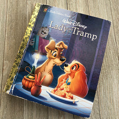 Lady and the Tramp-Golden Book Journal READY TO SHIP