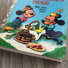 Mickey Mouses' Picnic Vintage-Golden Book Journal READY TO SHIP