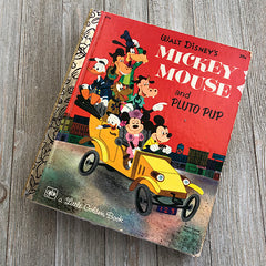 Mickey Mouses and Pluto Pup-Golden Book Journal READY TO SHIP
