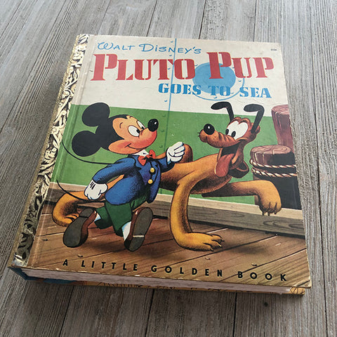 [RARE] Pluto pup Goes to Sea-Golden Book Journal READY TO SHIP