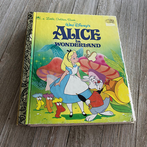 Alice in Wonderland No. 80 Yellow [Vintage]-Golden Book Journal READY TO SHIP
