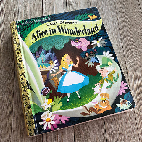 Alice in Wonderland No. 77-Golden Book Journal READY TO SHIP