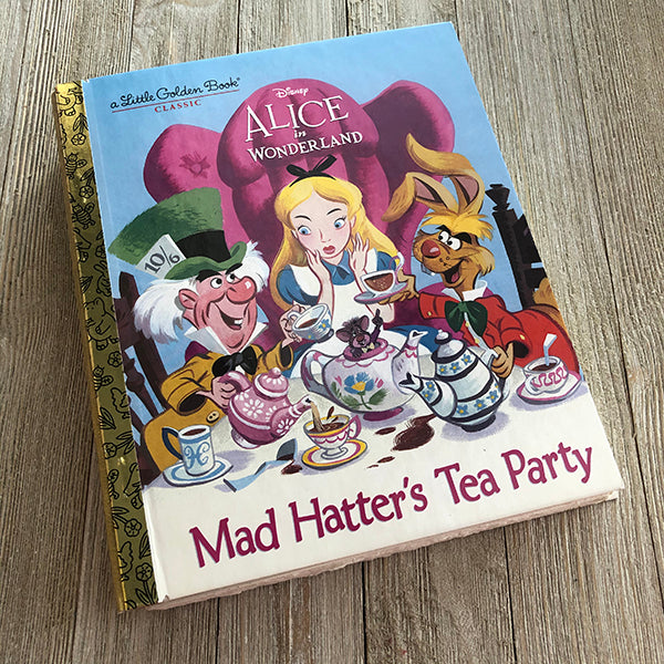 Alice Mad Hatter's Tea Party-Golden Book Journal READY TO SHIP