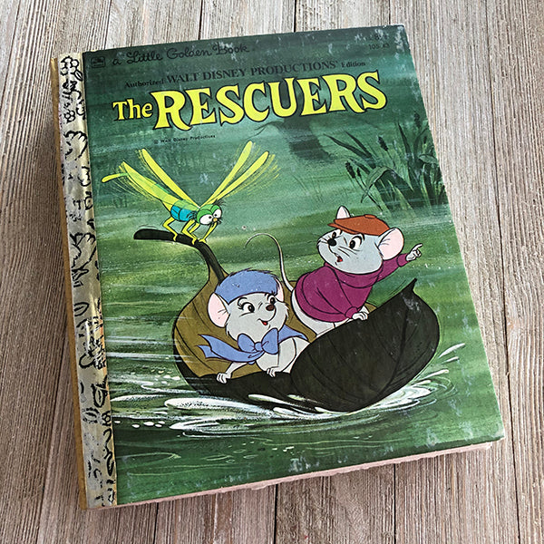 The Rescuers [Vintage]-Golden Book Journal READY TO SHIP