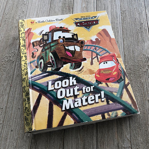 Look Out for Mater-Golden Book Journal READY TO SHIP