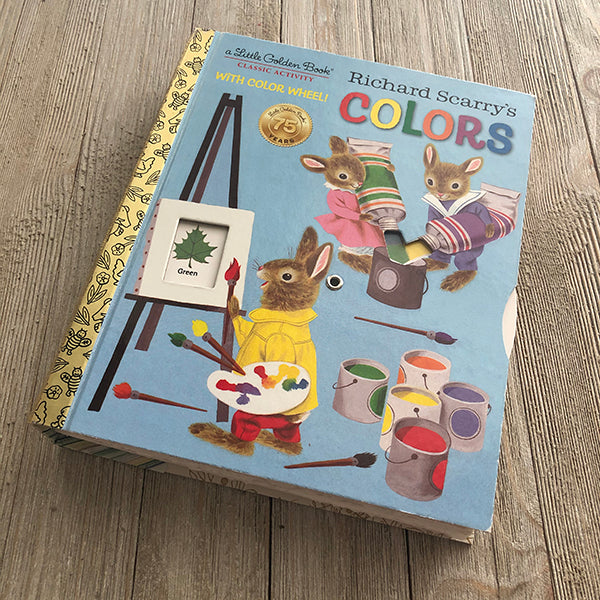 Richard Scary's Colors w/ Color Wheel-Golden Book Journal READY TO SHIP