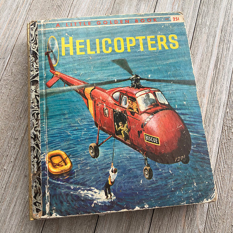Helicopters-Golden Book Journal READY TO SHIP