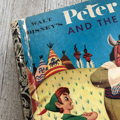 Peter Pan and the Indians (Rare Cover) -Golden Book Journal READY TO SHIP
