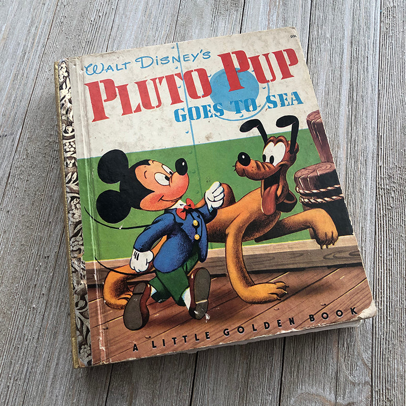Pluto Pup Goes to Sea-Golden Book Journal READY TO SHIP