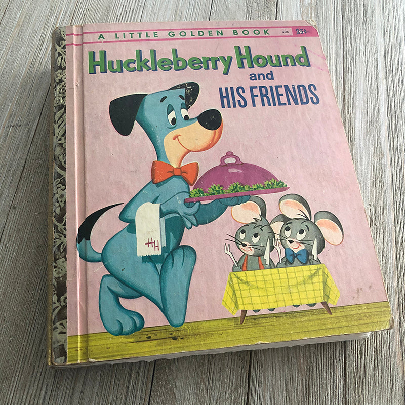MGM Huckleberry Hound Vintage Rare-Golden Book Journal READY TO SHIP