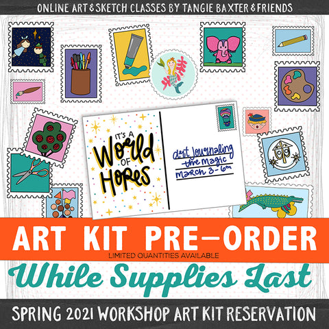 Art Journaling the Magic LIVE! Spring 2021 [Deluxe Art Kit]