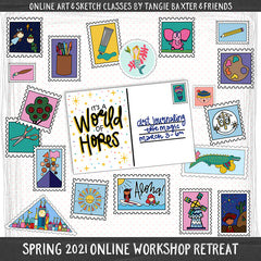 Art Journaling the Magic LIVE! Spring 2021 Online Workshop Retreat [Mar. 3rd-6th]