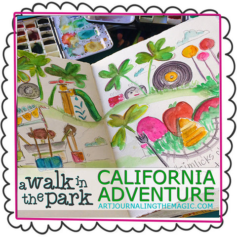 **NEW** [California Adventure] A Walk in the Park Online Sketchbook Adventure & Tour {Self-Study}