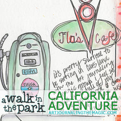 [California Adventure] A Walk in the Park Online Sketchbook Adventure & Tour {Self-Study}