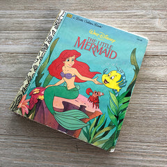The Little Mermaid Journal 13 (Vintage Cover) Golden Book Journal READY TO SHIP