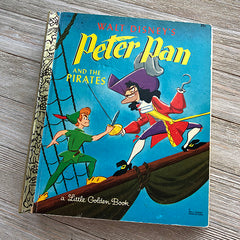 Peter Pan & The Pirates (Rare Vintage) -Golden Book Journal READY TO SHIP