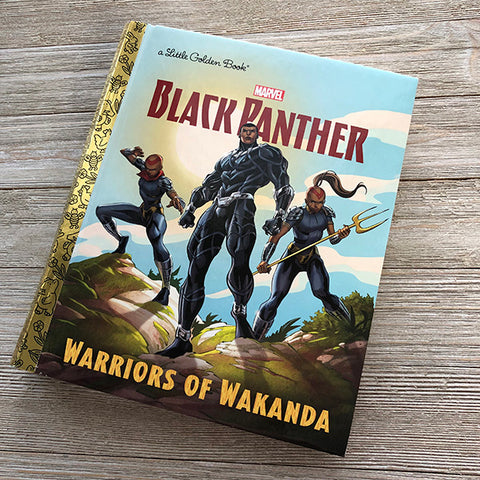 Black Panther Wakanda Marvel Golden Book Journal READY TO SHIP