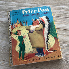 Peter Pan & The Indians (Rare Vintage) -Golden Book Journal READY TO SHIP
