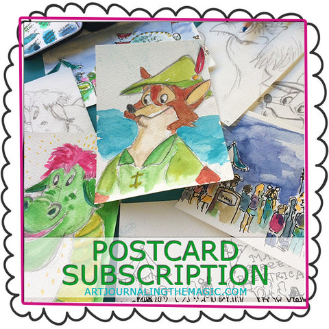 **NEW** Hand-Painted Postcard Subscription {Disney Inspired}