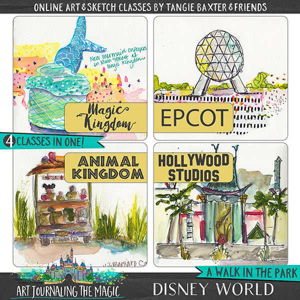 [Disney World] A Walk in the Park Online Sketchbook Adventure & Tour