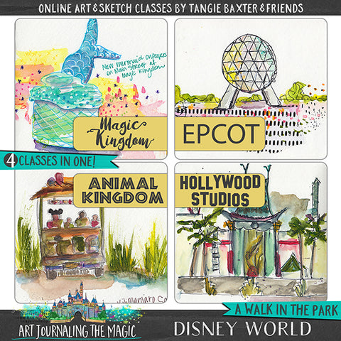 PRES-SALE [Disney World] A Walk in the Park Online Sketchbook Adventure & Tour