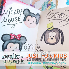 [Just for Kids Art Journaling & Autograph Books] Sketchbook Class {Self-Study}