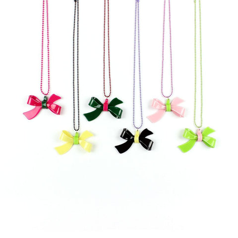 Apple Pie Jewelry Bow Necklace