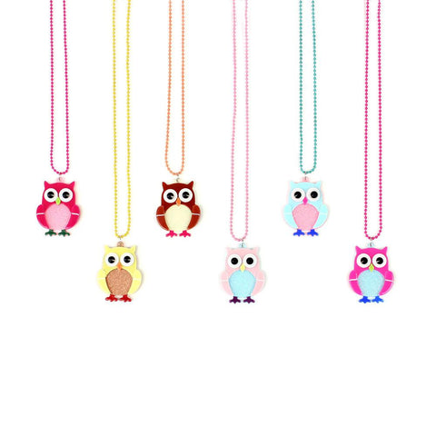 Apple Pie Jewelry Baby Owl Necklace