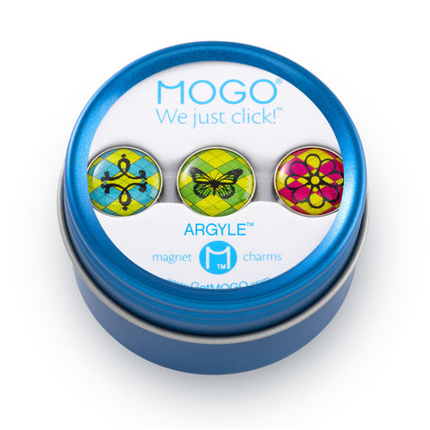 MOGO Charm Collection - Argyle (Tin of 3 Charms)