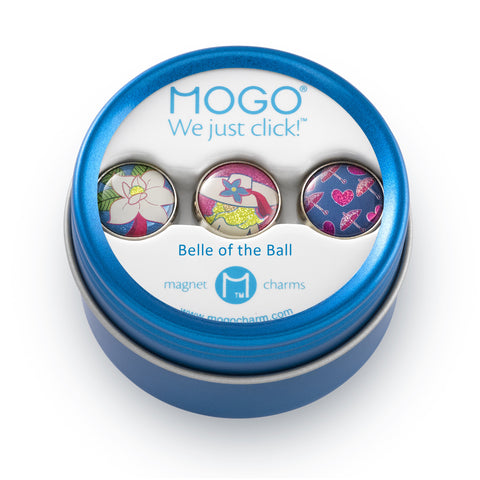 MOGO Charm Collection - Belle of the Ball (Tin of 3 Charms)