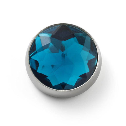 MOGO Birthstone December - Blue Topaz Charm