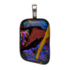 Pendant, Custom made Dichroic Glass Pendant, Custom Made Jewellery- Caitlin's Crafty Creations