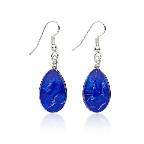 Custom made Cobalt Dichroic Glass Earrings