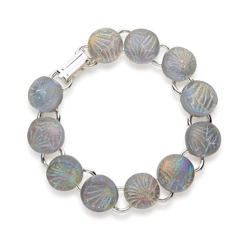 Copy of Custom made Silver Sky Dichroic Glass Bracelet