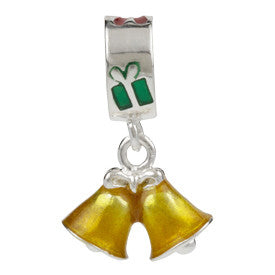 SilveRado Christmas Bells Gold Sterling Silver Charm