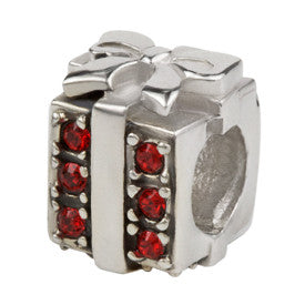 SilveRado Christmas Gift Red Bling Charm