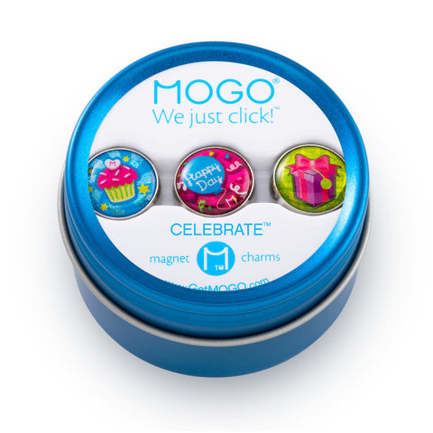 MOGO Charm Collection - Celebrate (Tin of 3 Charms)