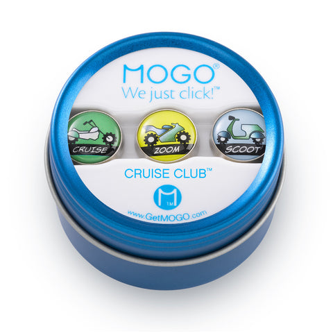 MOGO Charm Collection - Cruise Club (Tin of 3 Charms)