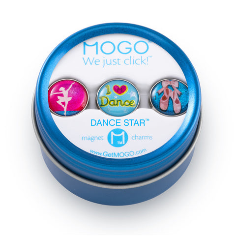 MOGO Charm Collection - Dance Star (Tin of 3 Charms)