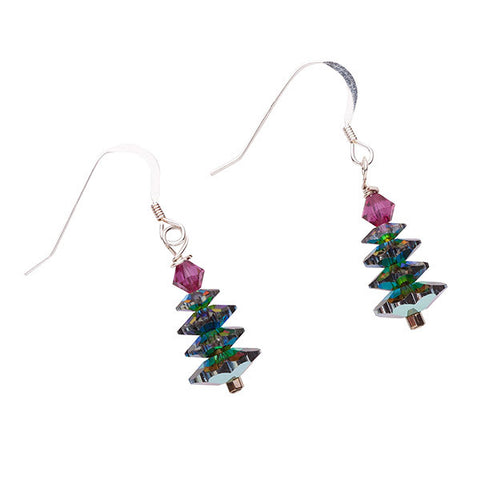 Custom Made Christmas Tree Earrings