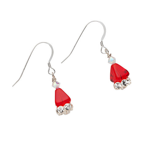 Custom Made Bling Santa Hat Earrings