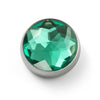 MOGO Charm, MOGO Birthstone May - Emerald Charm, MOGO Charms- Caitlin's Crafty Creations