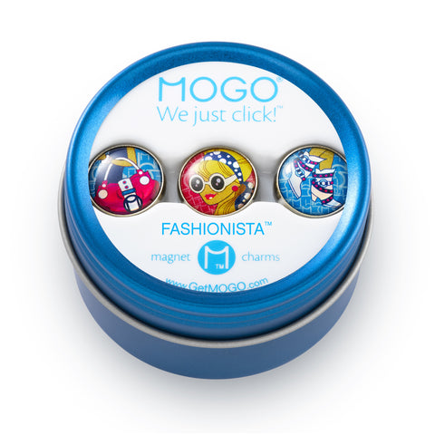 MOGO Charm Collection - Fashionista (Tin of 3 Charms)