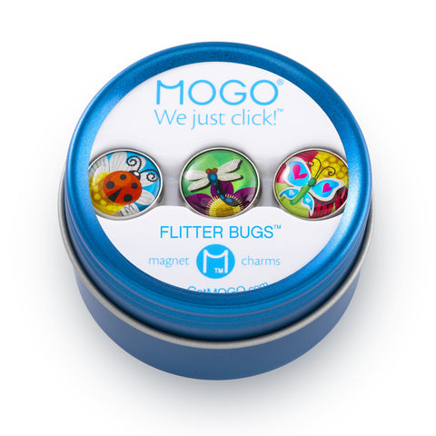 MOGO Charm Collection - Flitter Bugs (Tin of 3 Charms)
