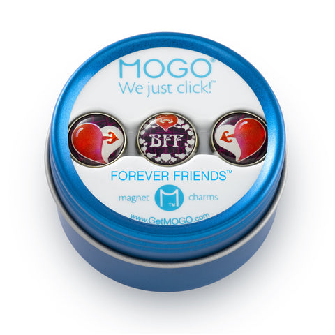 MOGO Charm Collection - Forever Friends (Tin of 3 Charms)