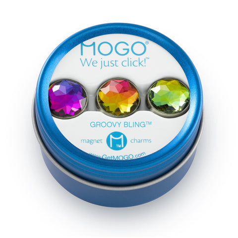 MOGO Charm Collection - Groovy Bling (Tin of 3 Charms)