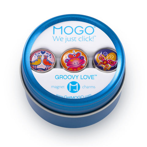 MOGO Charm Collection - Groovy Love (Tin of 3 Charms)